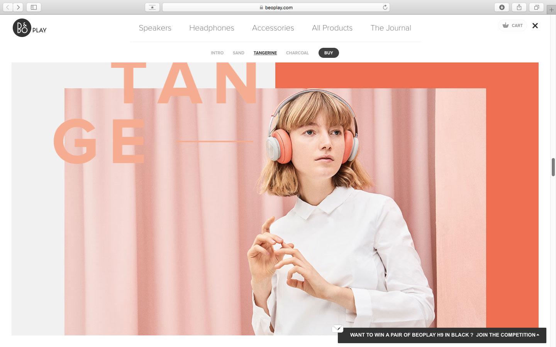 耳机, headphone, 网页, 设计, 图文, 美学